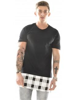 T-shirt Project X oversize à carreaux