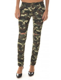 Pantalon slim camouflage
