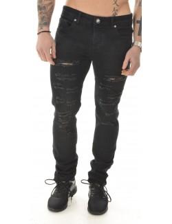Jeans Sixth June noir déchiré