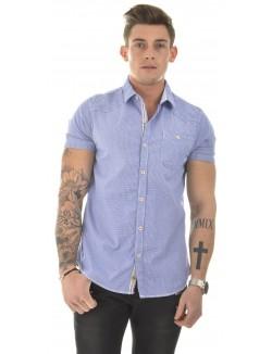 Chemise manches courtes à carreaux Vichy