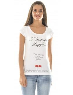 """T-shirt MadameDePaname """"L'homme Parfait"""""""