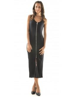 Robe longue à zip