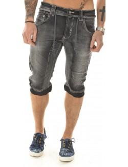 Bermuda homme Justway en jeans bimatière