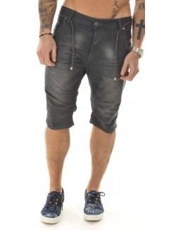 Bermuda homme en jeans délavé
