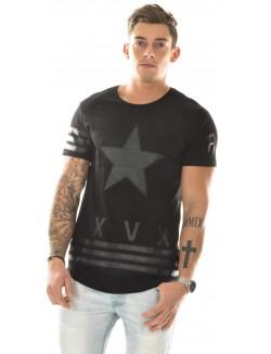 T-shirt étoile bimatière