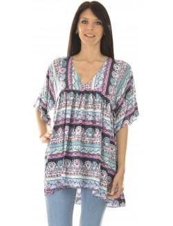 Tunique ample à motifs gypsy