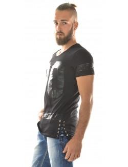 T-shirt homme oversize asymétrique 00