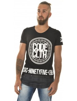 T-shirt homme oversize bimatière