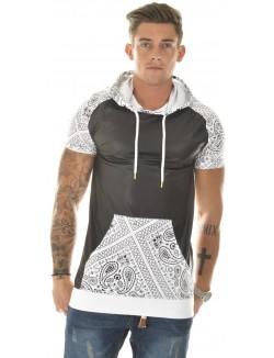 T-shirt à capuche By Studio bimatière bandana