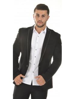 Veste de costume homme Ross Carra à bordure brillantes