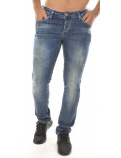 Jeans slim Twister bleu délavé déchiré