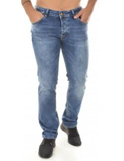 Jeans slim Twister bleu délavé