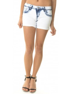 Short en jeans stonewashed
