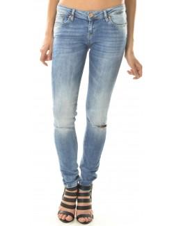 Jeans Twister délavé et déchiré