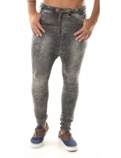 Jeans sarouel gris délavé