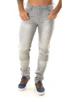 Jeans homme Sixth June gris motard