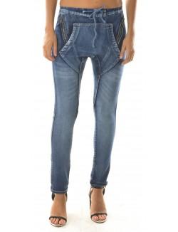 Jeans Blue Rags sarouel à zips