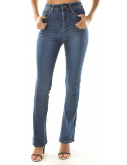 Jeans Flare Blue Rags taille haute