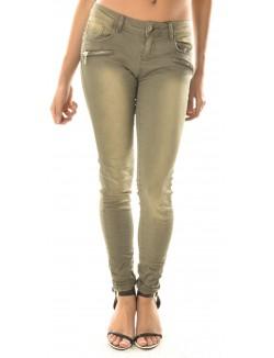Jeans froissé à zips