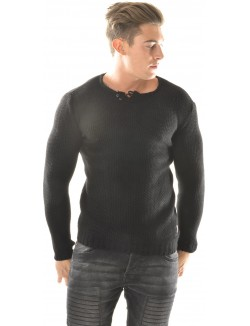 Pull homme à boutons