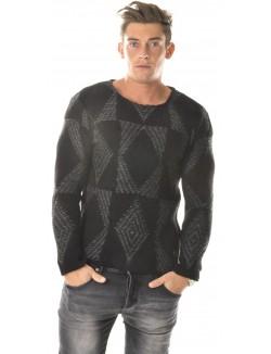 Pull Exclusive en laine à motifs constrastants