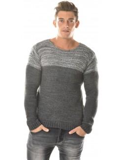 Pull Exclusive en laine contrastant