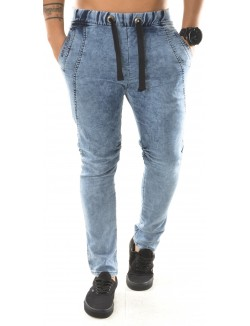 Jeans sarouel Exclusive délavé