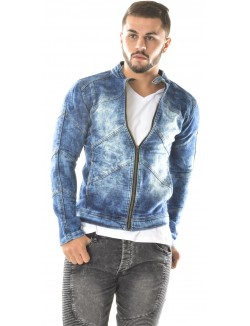 Veste en jeans Exclusive délavée