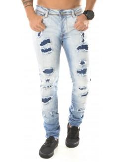 Jeans Projet X délavé destroy