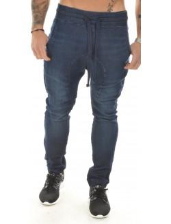 Jeans sarouel Cabaneli effet jogging