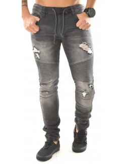 Jeans Projet X motard effet destroy