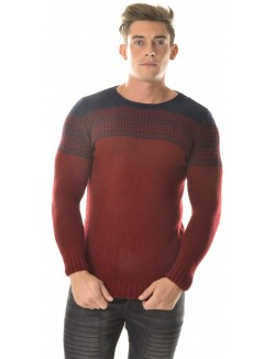 Pull homme Let's go contrastant