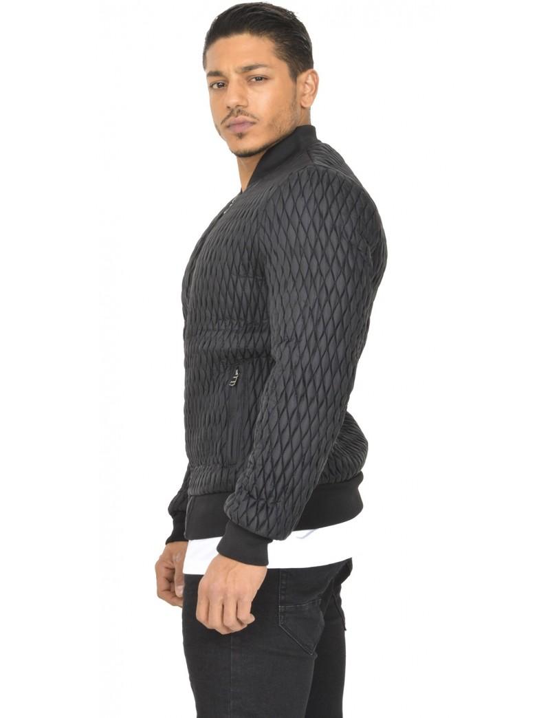 blouson homme matelass jeans industry. Black Bedroom Furniture Sets. Home Design Ideas