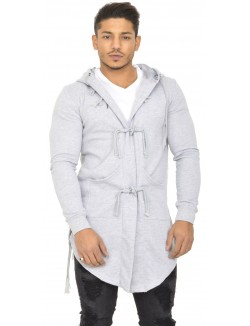 Hoodie homme à boutons cordes