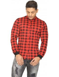 Chemise homme à carreaux rouges