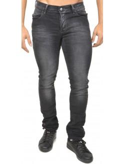 Jeans slim noir brut