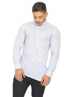 Chemise boutonnière asymétrique à motifs