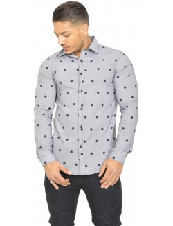 Chemise slim-fit à motifs