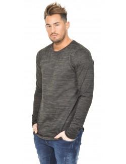 T-shirt Celebry-Tees chiné à zips