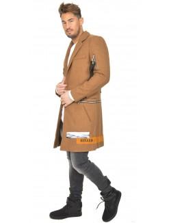 Manteau long Sixth-June à empiècements contrastants et zips
