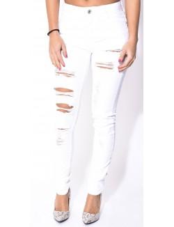 Jeans slim déchiré