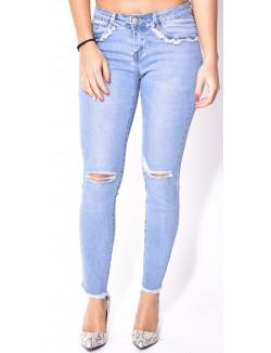 Jeans Blue Rags clair délavé déchiré