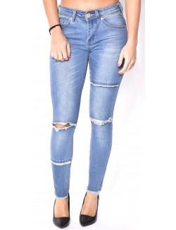 Jeans Blue Rags délavé déchiré