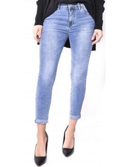 Jeans délavé froissé