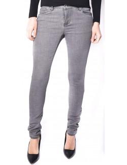 Jeans taille haute gris