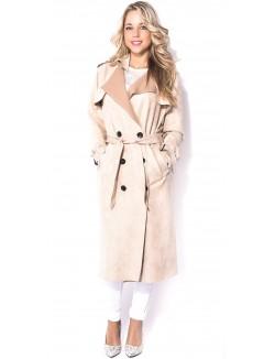 Trench-coat en suédine