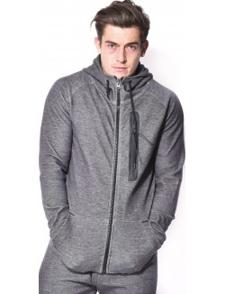 Sweat homme à capuche chiné