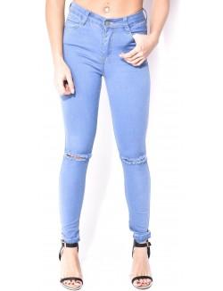 Jeans Blue Rags taille haute déchiré