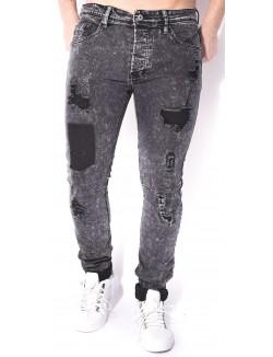 Jeans Project X déchiré à surpiqûres