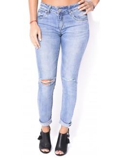 Jeans slim délavé déchiré
